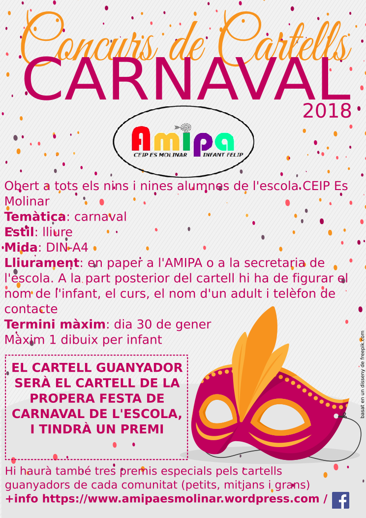 Concurs cartells carnaval AMIPA Es Molinar