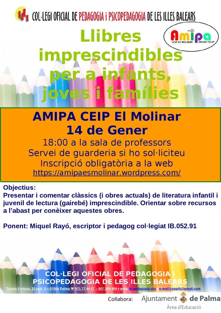 Llibres imprescindibles AMIPA Es Molinar