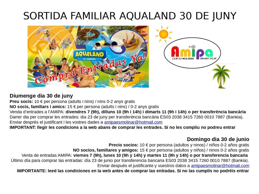 Sortida Aqualand 2019
